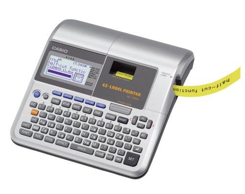 CASIO EZ-Label Printer KL-7400 Beschriftungsgerät professionell,  für Schriftbänder 6 / 9 / 12 / 18 / 24 mm, inkl. Netzteil
