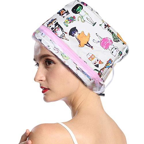 Gorro para vaporizador de cabello, 3 engranajes eléctricos para el cuidado del cabello, gorro de vapor para spa gorro calefactor ajustable vaporizadores de ducha gorro para cabello natural dañado(NOS)