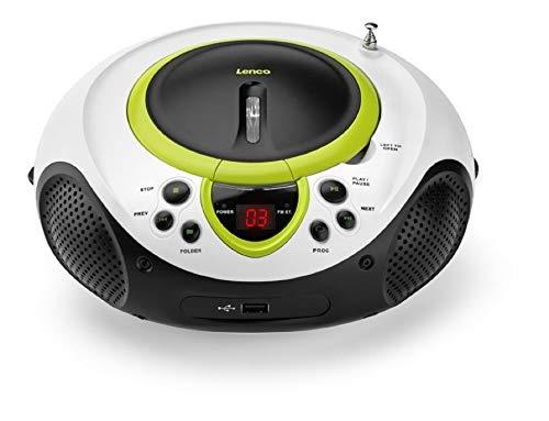 Lenco SCD-38 draagbare FM-radio met CD/MP3-speler (USB 2.0)