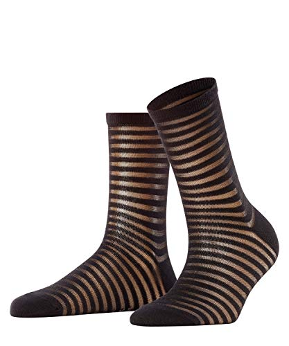 FALKE Damen Flash Rib Socken, schwarz (black 3000), 35-38