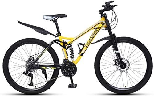 HCMNME Mountainbikes, 26-Zoll-Downhill-weiche Schwanz-Mountainbike-Variable Geschwindigkeit männlich und weibliches Dreirad-Mountainbike Aluminiumrahmen mit Scheibenbremsen