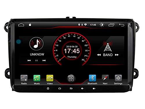 Mano, WiFi, Android 10 GPS Navegación Estéreo para Coche VW Volkswagen Skoda Golf 5 Golf 6 Polo Passat B5 B6 Jetta TIGUAN Reproductor de DVD BT RDS - Radio Multimedia - -Llamadas Gratis
