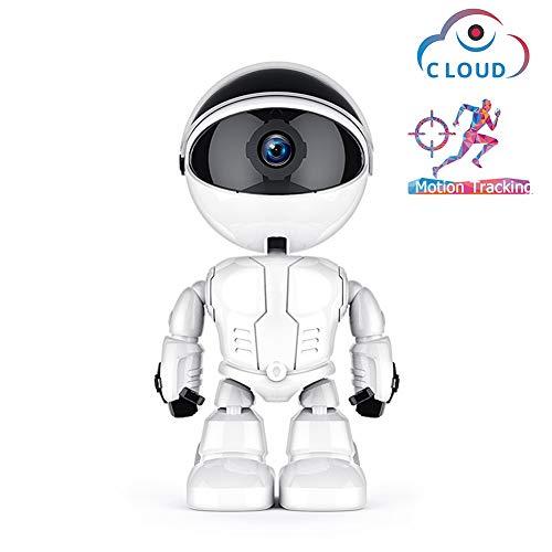Skdvy 1080P Wolke WiFi Roboter Kamera Home Security Surveillance IP-Kamera Kinder Begleiten Roboter drahtlosen WiFi CCTV-Kamera (Plug Type : UK Plug, Sensor Size : 1080P)