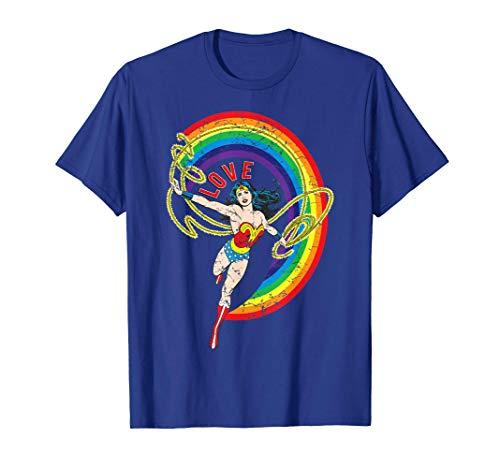 Wonder Woman Rainbow Love T-shirt, Men or Women, up to 3XL