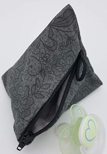 Schnullertasche XL für 2-4 Nuckel florales Muster von Frau Else