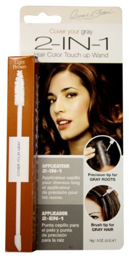 Irene Gari Cover Your Grey for Women 2-in-1 Hair Color Touch up Wand 14g/0.5oz - Light Brown by Irene Gari [Beauty] (English Manual)