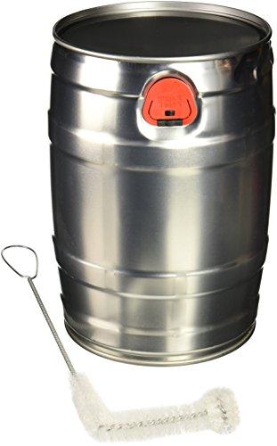 Home Brew Ohio TJ-JYR9-W5XX Mini Keg with Cleaning Brush, 5 L Silver