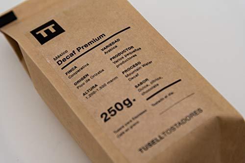 Cafeïnevrije Koffie Koffiebonen 250g Espresso 100% Arabica - Decaf Premium - Tusell Tostadores