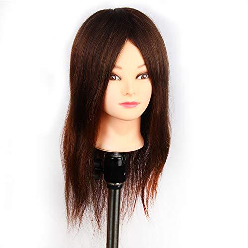 Cosmétologie tête de mannequin cheveux Styling 85% vrais cheveux formation tête Manikin tête poupée tête avec pince