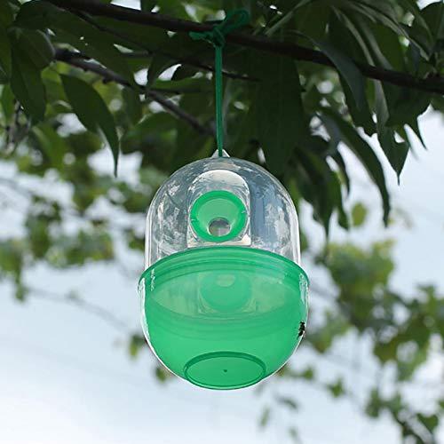 Wespenfalle 3 Stück Wespenfalle Catcher Hornets Repellent Bienenfalle Killer Insektenfänger Schädlingsbekämpfung hängender Baum Sommer Schädlingsbekämpfung für Garten Veranda Outdoor (grün)