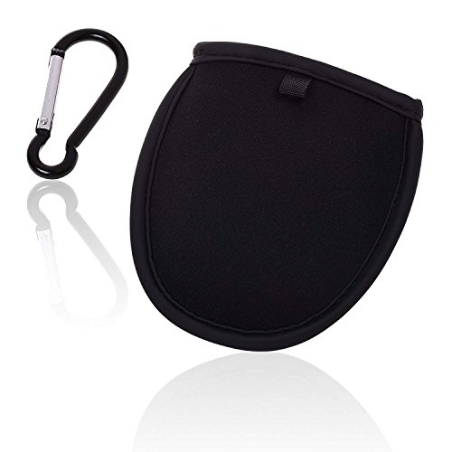 Wanty Golf Ball Cleaner Pouch,Portable Pocket Golf Ball Washer Pouch, Pocket Ball Washer with Clip (Black-1)