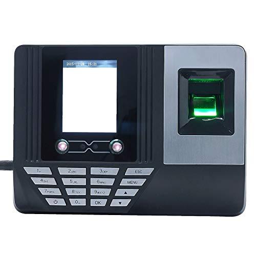 HEQIE-YONGP Timeuhren für Mitarbeiter Kleinunternehmen Gesichts-Fingerabdruck-Passwort-Anwesenheits-Maschine Mitarbeiter Anmelden Gehalt Recorder Gesichtserkennung Zeiterfassung Uhr