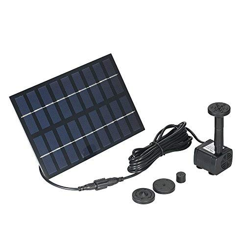 Decdeal 9V 1.8W Solar Water Pump Garden Fountain Solar Pond Pumps for Fish Ponds
