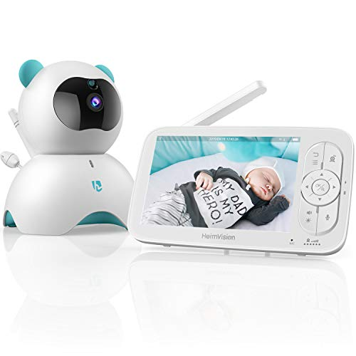 heimvision HM136 Video Baby Monitor, 5 LCD Display, 720P HD, Two-Way Audio, Temperature & Sound Alarm, Security Camera with 110