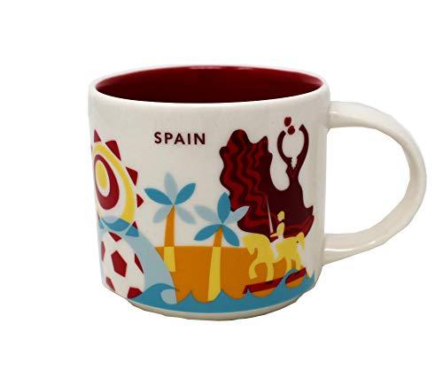 Starbucks Spanien Sie Befinden Sich Hier Yah-Sammlung Kaffeetasse Weiß