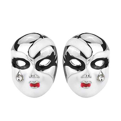 YIJOY Ohrringe Tragen Sie Maske Teardrop Gesichts Make up Mode Ohr Akupunktur Ohrstecker FüR Goldkette Beste Freundin Geschenke(Silber,1 Paar)