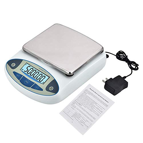 TOPSCA Analytical Lab Scale,(5000g,0.01g) g Accurate Electronic Balance Scale Gram Scale Laboratory Balance, Digital Kitchen Balance Scale Jewelry Gold Scale 110V