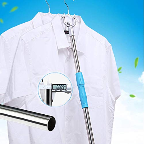 Asunflower Retractable Reach Pole, Telescopic Pole with Hook Utility Reaching Stick