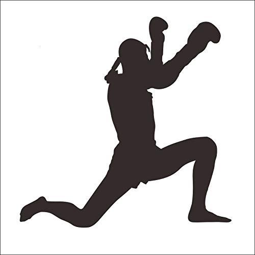 Adesivi murali per camera da letto ragazze adolescenti, Club De Boxeo Muay Thai Taekwondo Karate Etiqueta Patada Coche Etiqueta Combate Libre Carteles De Striker De La Pared Bambini Natale 58x58cm