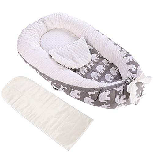 %20 OFF! Detachable Baby Nest with Mattresses, Portable Newborn Lounger for Baby 0-24 Months, Soft, ...