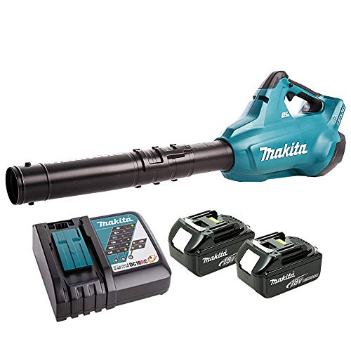 Makita DUB362 36V Brushless Leaf Blower with 2 x 5Ah Batteries & DC18RC Charger