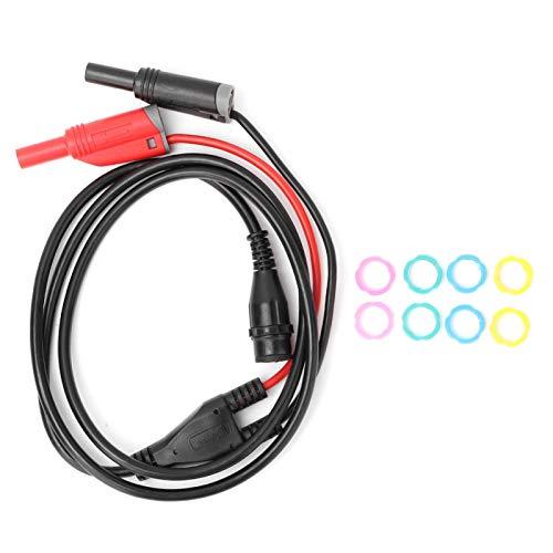 Cable BNC macho a conector banana de seguridad, P1204 Cable BNC a conector banana Prueba de osciloscopio para equipos electrónicos de prueba de osciloscopio
