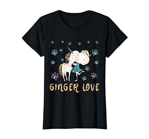 Ginger Einhorn Unicorn Redhead Love Rothaarig Rotschopf T-Shirt