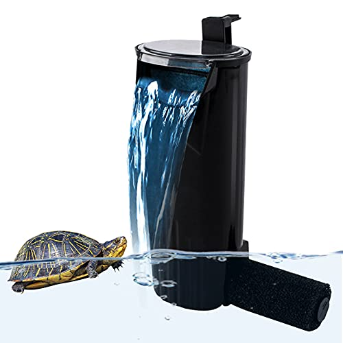 PULACO Aquarium Internal Filter 5 to 40 Gallons, for Turtle Tanks, Reptiles, Amphibians, Frog, Cichlids, Newt or Fish Tank