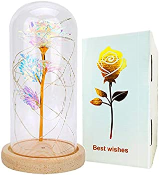 Fitkissg Galaxy Rose Flower Gift for Valentine's Day