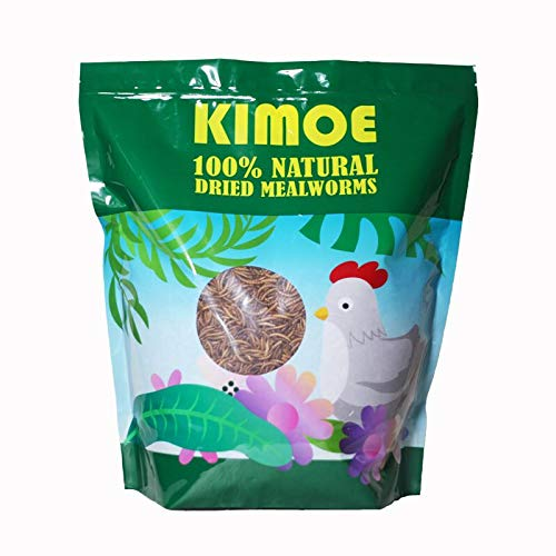 Kimoe 5LB 100% Natural Non-GMO dried mealworms-High-Protein for Birds,...