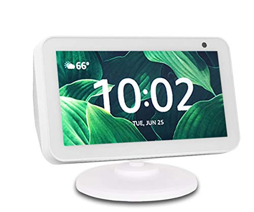 Adjustable Stand for Echo Show 5, Base Accessory Compatible with Amazon Alexa 5 Smart Speaker, Built-in Magnetic, Swivel and Tilt, Anti-Slip Base, White