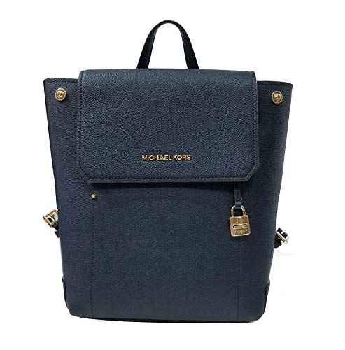 """Leather Gold tone hardware Side snaps at top of bag helps keep shape and secure contents Adjustable Straps Measurements: 12""""H x 10""""W x 4.5""""D"""