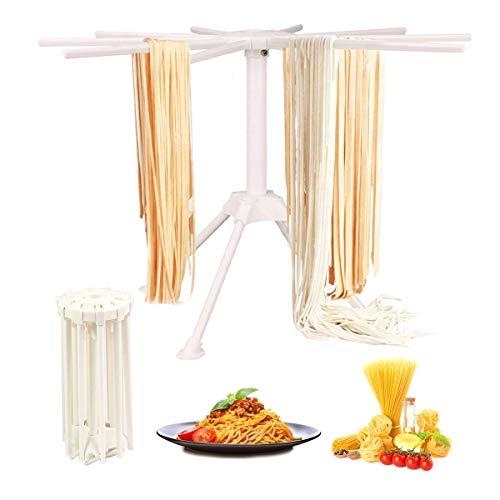 Stendipasta, con 10 bracci pieghevoli, per pasta fresca come spaghetti, facile da riporre, veloce da montare Taglia libera bianco