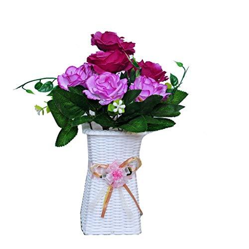 PRIDE S Gefälschte Blume künstliche Blumen-Silk Blumen-Ornament Wohnzimmer-Dekoration Dekoration Plastikblumentopf (Color : A)