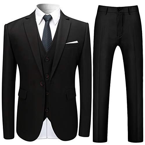 Anzug Herren Anzug Slim Fit 3 Teilig Herrenanzug 3-Teilig Anzüge Herren Modern Sakko für Business Hochzeitsanug