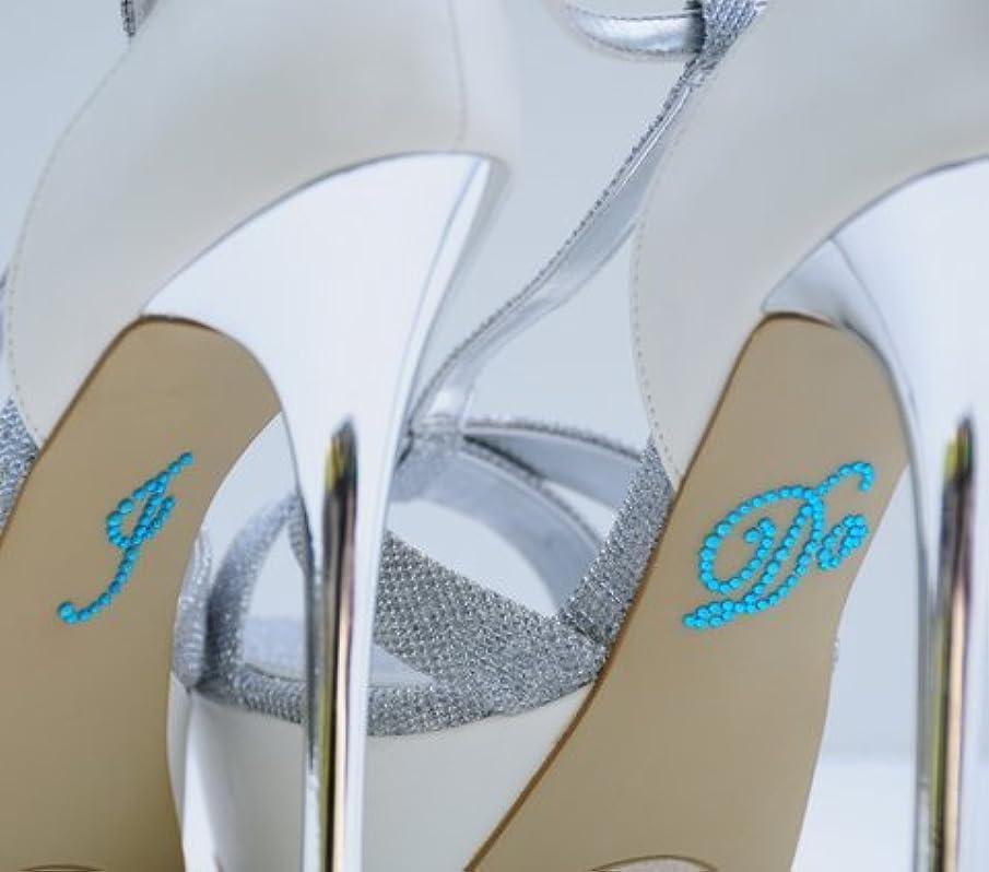 Wedding Rhinestone I Do Shoe Applique Stickers - Navy Blue UO0003