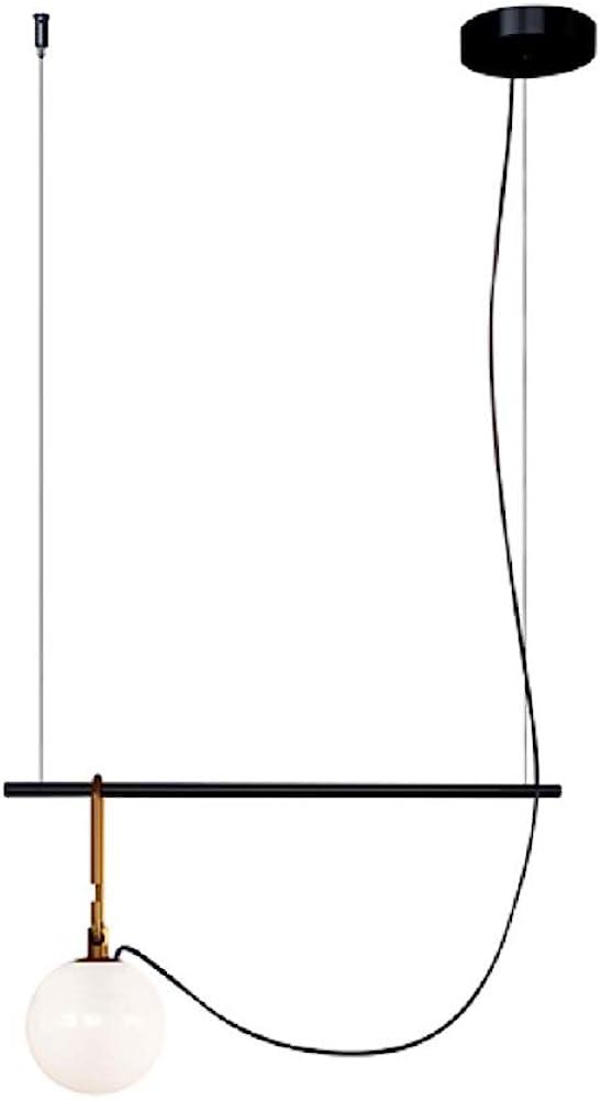 Artemide nh1217, lampada da sospensione s2 22, oro satinato,vetro soffiato/ottone/acciaio 1275010A