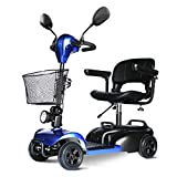 HOPELJ Silla De Ruedas Eléctrica - Folding Portable Mobility Scooter,Movilidad Reducida Minusválido,180W Batería De Litio...