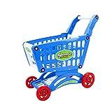 shentaotao Carrito de Compras supermercado de Juguete Set de Juego de Juguetes educativos Compras para niños Aprendizaje para el Desarrollo Educacional Pretend Juego Azul Estilo-1801 1PC