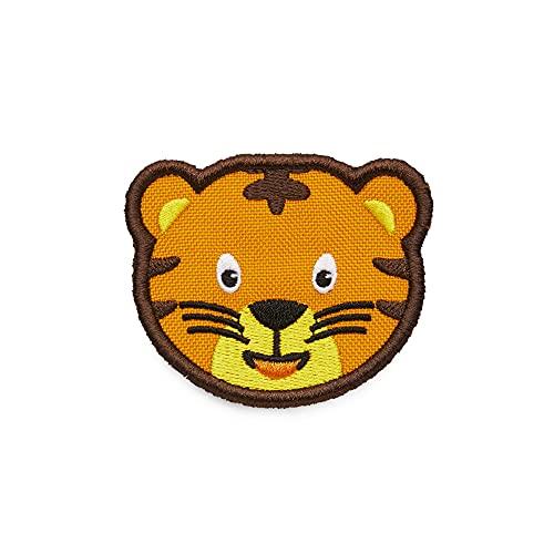 Affenzahn Klett Badge - mit verschiedenen Tiermotiven, geeignet für den Daydreamer Abenteuer Rucksack Tiger - Gelb