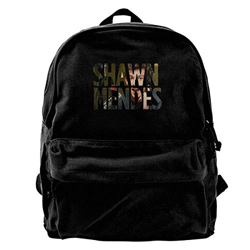 NJIASGFUI Shawn Mendes - Mochila de lona con logo de los cantantes para gimnasio, senderismo, portátil, para hombre y mujer