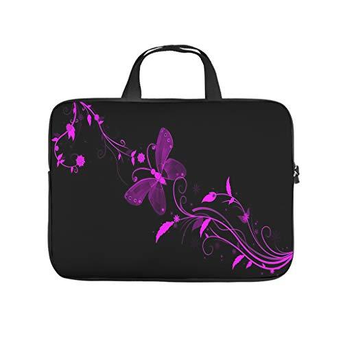 Purple Magic Butterfly Laptop Bag Wear-resistant Laptop Protective Bag Notebook Bag for University Work Business