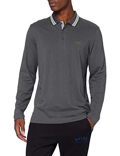 BOSS Plisy Camisa Polo, Gris Medio (35), XL para Hombre