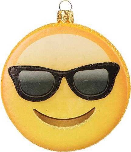 Unbekannt Christbaumschmuck Figur Emoji (7.5cm Emoji Nr. 2) // Glas Smileys Weihnachtsschmuck Christbaumkugeln Baumschmuck Deko