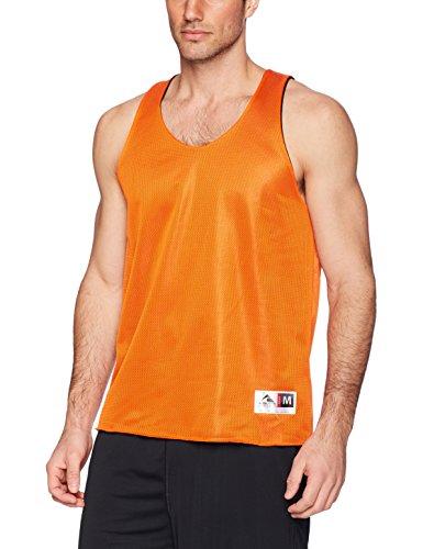 Augusta Sportswear Jungen Men\'s Reversible Mini mesh League Tank, Black, Large Top, orange/schwarz, Groß