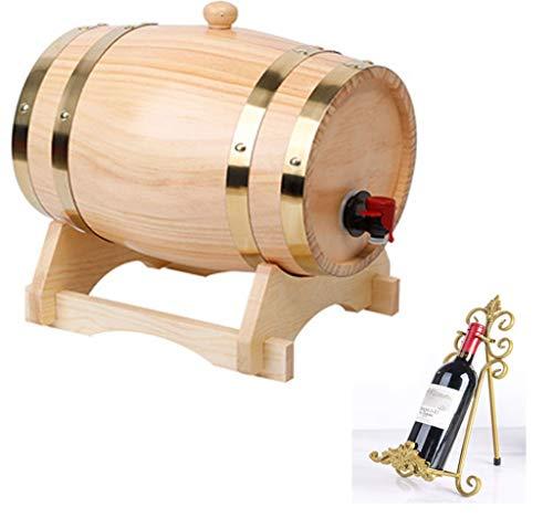 Barril de vino 5L barril de vino barril de cerveza, mesa de comedor cocina botella Porta botella de bebida, adecuado para entretenimiento o decoraciones de bar soporte de vino tinto (práctico y durade