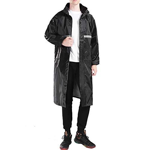 WanuigH High Visibility regenjas voor heren, professionele kleding, waterdichte regenjas voor elke activiteit buiten, zwart reflecterend veiligheidsjack