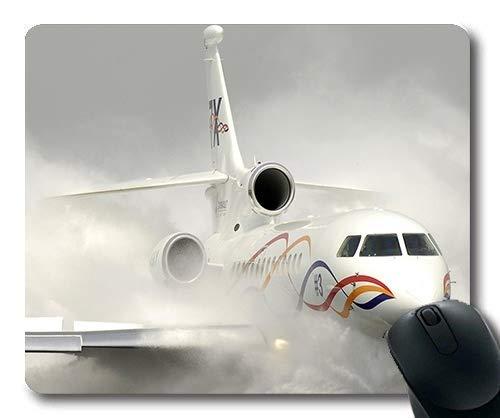 hochauflösendes Flugzeug, Mausunterlage, Kämpferdrachen, Mausunterlage mit genähten Kanten