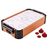 Wooden Mini Air Hockey Table,Tabletop Air Hockey Game Battery Operated Hockey Game for Kids