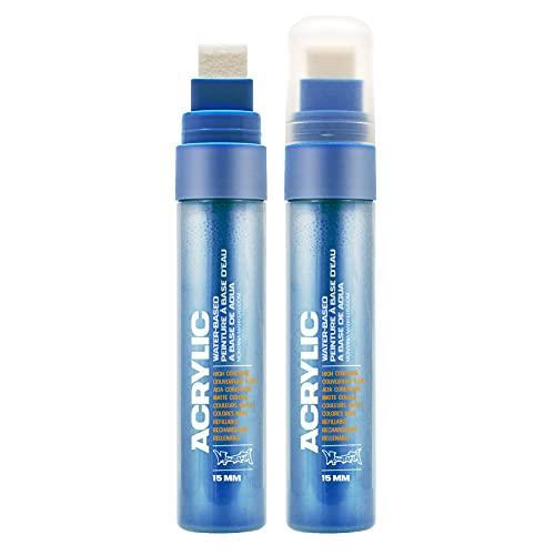 Montana Acrylic Paint Marker, 15mm, Standard Nib, Shock Blue Light (045406)